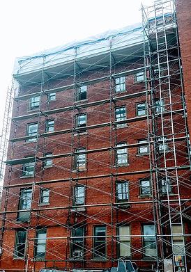 Kansas City Brick Restoration Parapet 1.