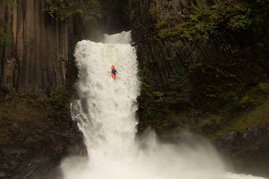 Adventure photography; Kayaking; Waterfall