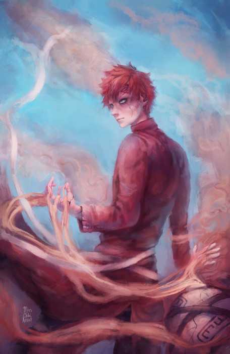 Gaara illustration from Naruto