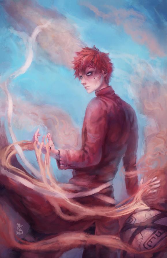 Gaara illustration from Naruto