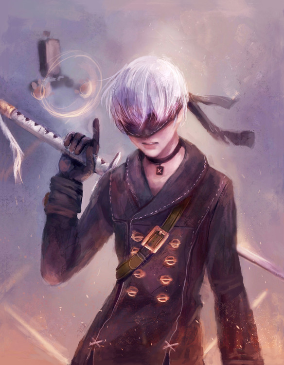 9s from Nier Automata illustration