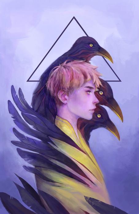 crow fantasy character illustration