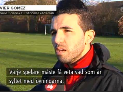 TV4 Öresunds reportage om Spanska Akademin FF och Javi K Gomez