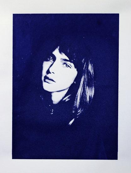 Limited Edition Monochrome Screen Print - Blue