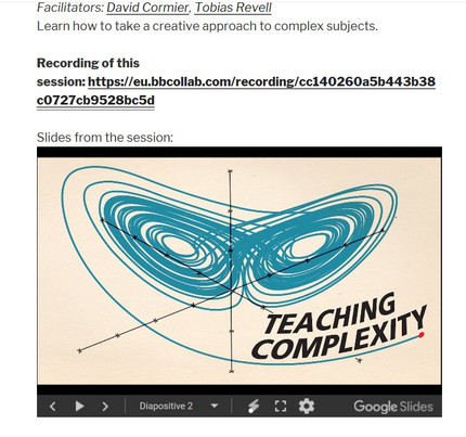 """CPD: """"Complexity and Creativity"""""""