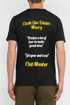 Castle Glen Winery Man T-Shirt Back