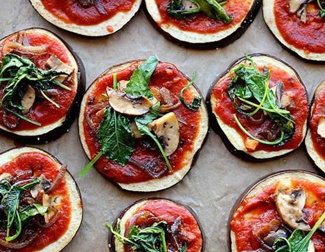 Minipizzas de berenjena