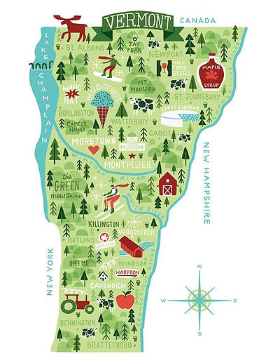 Music Mountain Compost Vermont Map