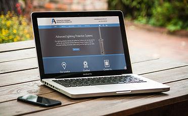 ALPS Website on laptop