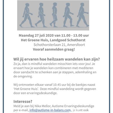 Mindful wandelen 27 juli