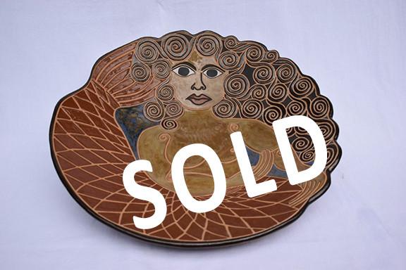 SOLD -- High-fire Mermaid Centerpiece $10,000 pesos plus shipping (mas envio)