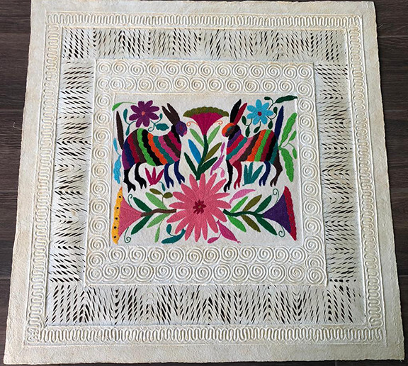 Amate with Otomi Embroidery $1,000 pesos