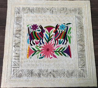 SOLD Amate with Otomi Embroidery $1,000 pesos