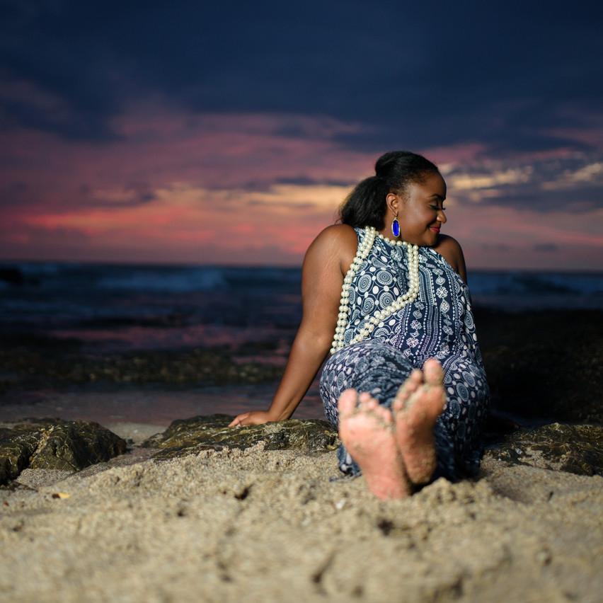 Relaxing during sunset at Langosta Beach