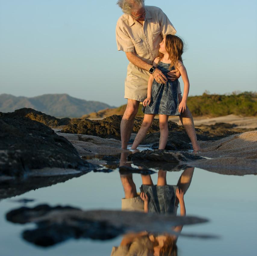 Family beach portraits on Langosta Beach
