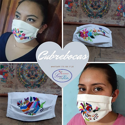 Tonani Lirios de los Valles Covid Masks - see pricing below Click on the photo