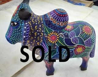 SOLD-Brahma Bull — Large: 25 cm long x 20 cm tall $1,500 pesos plus shipping (mas envio) Medium: 20 cm long x15 cm high $1000 plus shipping (mas envio) Small: 15 cm long x10 cm high $400 pesos plus shipping (mas envio)