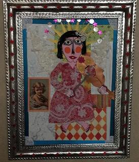"""Me Equivoqué"" Collage with Tin Frame $4000 plus shipping (mas envio)"