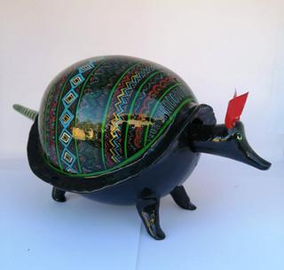 Armadillo black color length 28 cm. Height 12 cm price $1200.00.jpeg