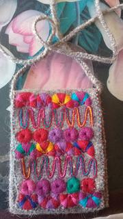 Handmade wool handbag $150 pesos plus shipping (mas envio)