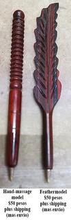 Hand-crafted wood pens $50 pesos each plus shipping (mas envio)