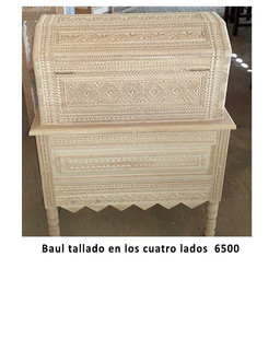 Baul/Chest hand-carved on all 4 sides $6,500 pesos plus shipping (mas envio)