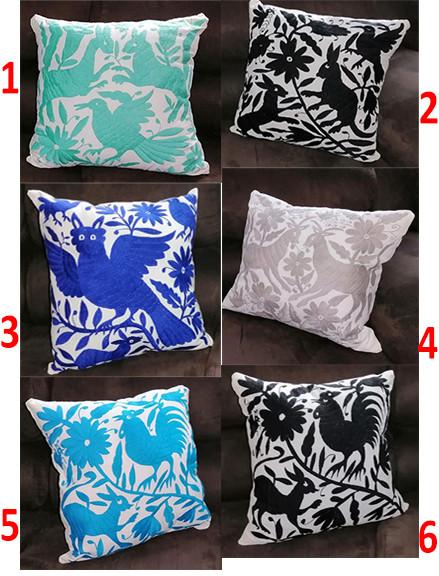 Otomi Hand-embroidered pillows $1,100 pair/par; $625 pesos cu/each