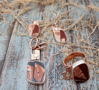 Set: Silver Ring, Earrings & Pendant $2,350 pesos plus shipping (mas envio)