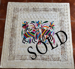 SOLD--Amate with Otomi Embroidery $1,000 pesos