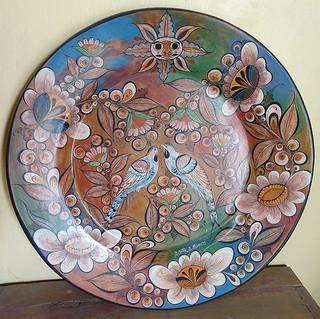 Barro Bruñido plate $4,000 pesos plus shipping (mas envio)