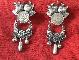 Silver Earrings $1,800 pesos plus shipping (mas envio)