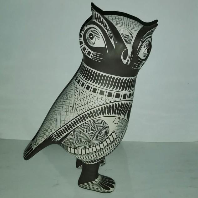 Owl with traditional designs $11,000 pesos plus shipping (mas envio)