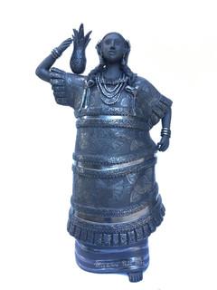 Barro Negro Figure: Tuxtepecana Costume from the Tuxtepec Oaxaca Region $8,000 pesos plus shipping (mas envio)