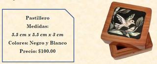 Wood inlaid w/abalone pill box $100 pesos plus shipping (mas envio)