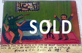 SOLD--Ex-Voto $450 plus shipping (mas envio)
