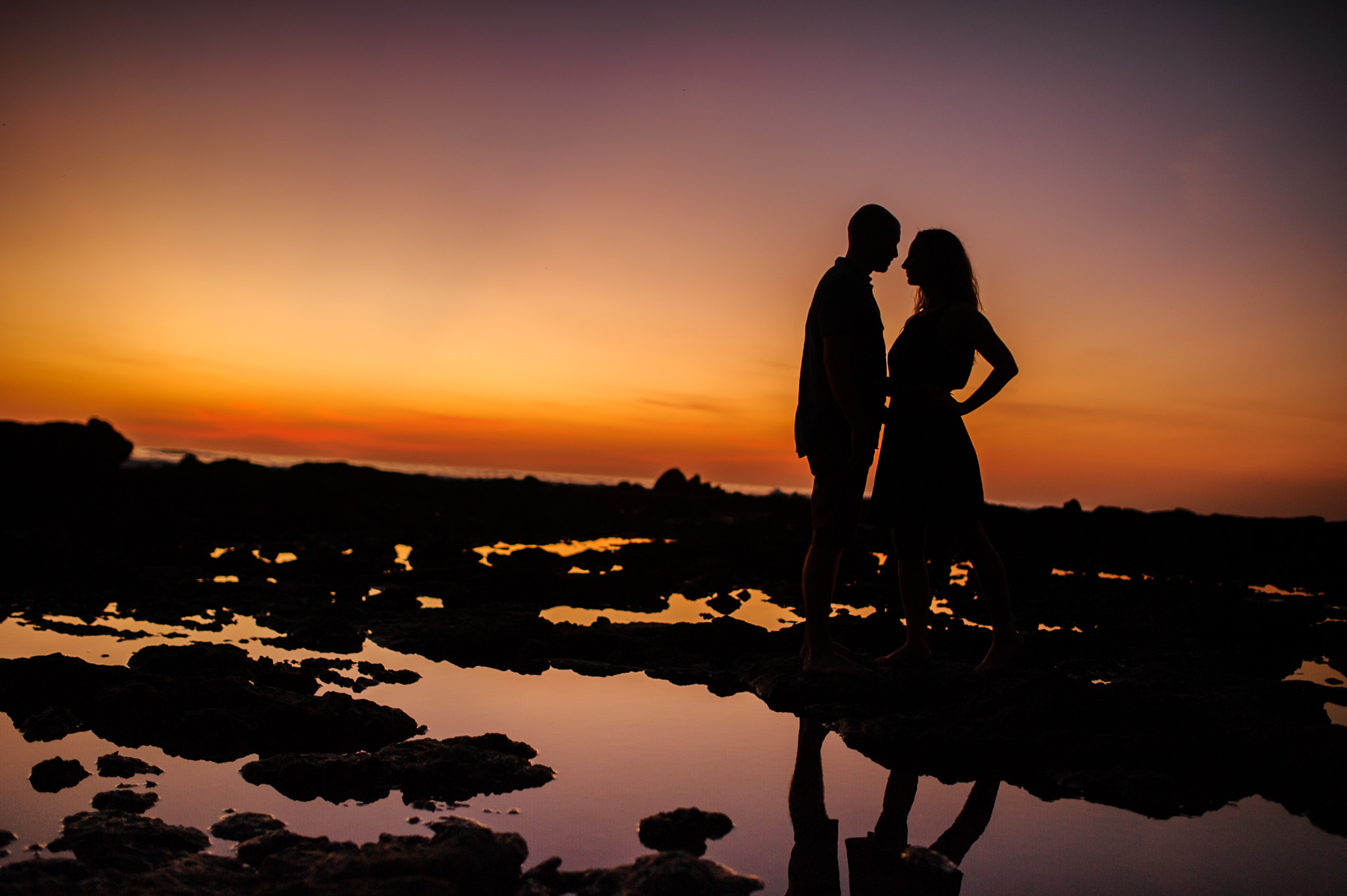 Stunning sunset silhouette shot at Junquillal