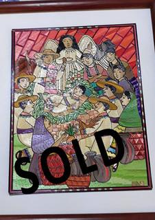 SOLD--Nativity Popotillo $950 pesos plus shipping (mas envio)