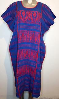Hand-Woven Blue & Red Huipil $1650 pesos plus shipping (mas envio)