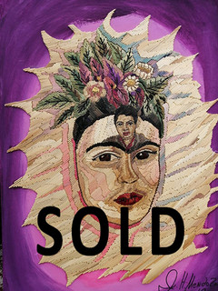SOLD--Popotillo Frida Kahlo & Diego Rivera $1,500 pesos plus shipping