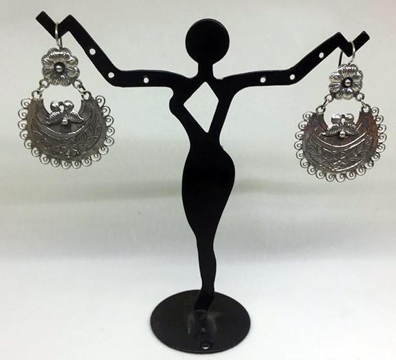 Traditional Mazahua earrings $1,500 pesos plus shipping (mas envio)