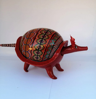 Armadillo red color length 25 cm height 12.5 cm. Price $1200.00.jpeg