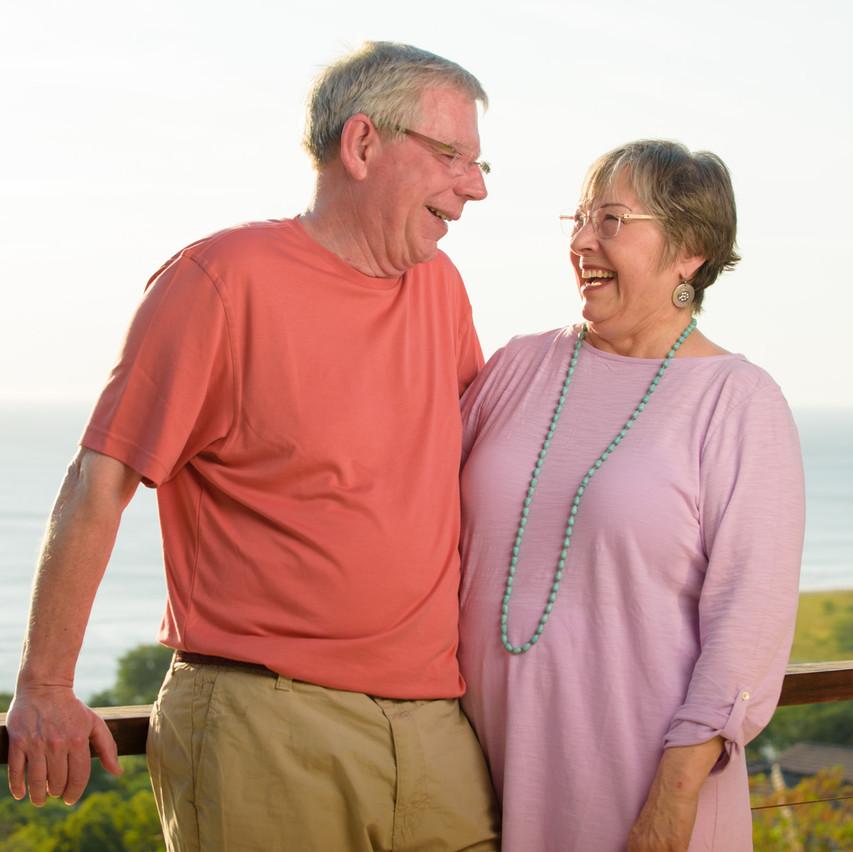 Grandparents at El Tesoro in Tamarindo