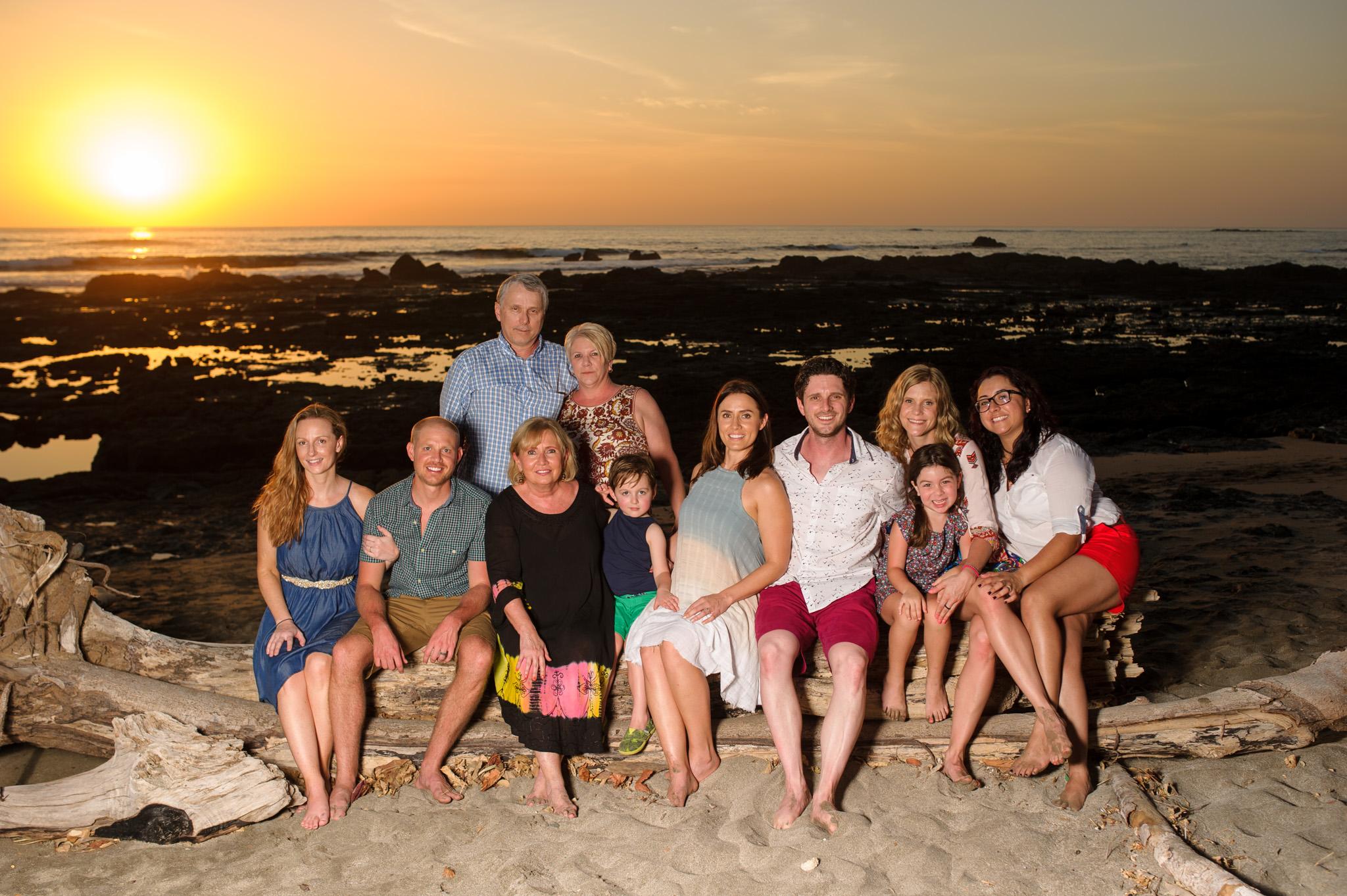 Family reunion photoshoot  at Junquillal