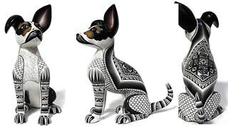"""""""Pinto Dog with Bent Ear"""" $7500 pesos plus shipping (mas envio)"""