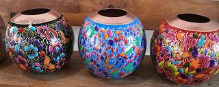 Copper painted decorative sphere $2,800 pesos each/cu plus shipping (mas envio)