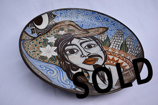 SOLD-High-fire Ceramic Plate $4,000 pesos plus shipping (mas envio)