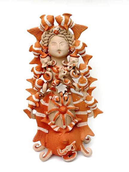"Artist: Alicia Leticia Garcí Blanco — ""Octopus woman"" $3,500 pesos plus shipping (mas envio)"