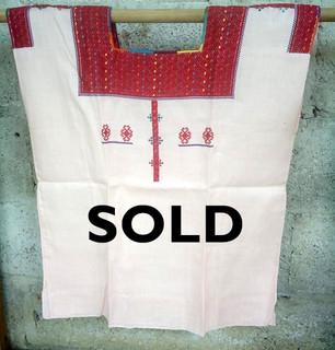 SOLD-Linen huipil $1600 pesos plus shipping / mas envio
