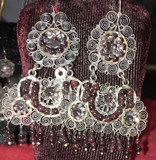 """""""M"""" Silver Filigree Earrings $3,500 pesos plus shipping (mas envio)"""