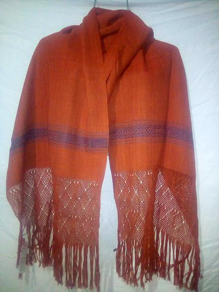 Cotton rebozo with natural dyes $1000 pesos plus shipping (mas envio)